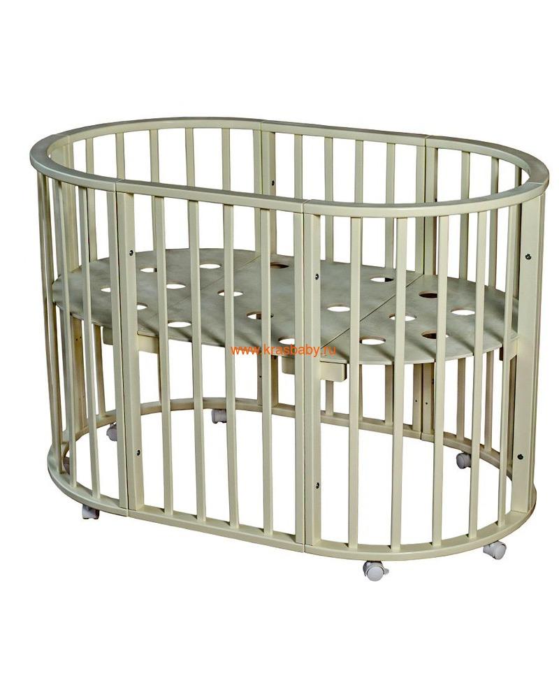 Кроватка МОЙ МАЛЫШ НИКОЛЬ (круглая) (фото, вид 10)