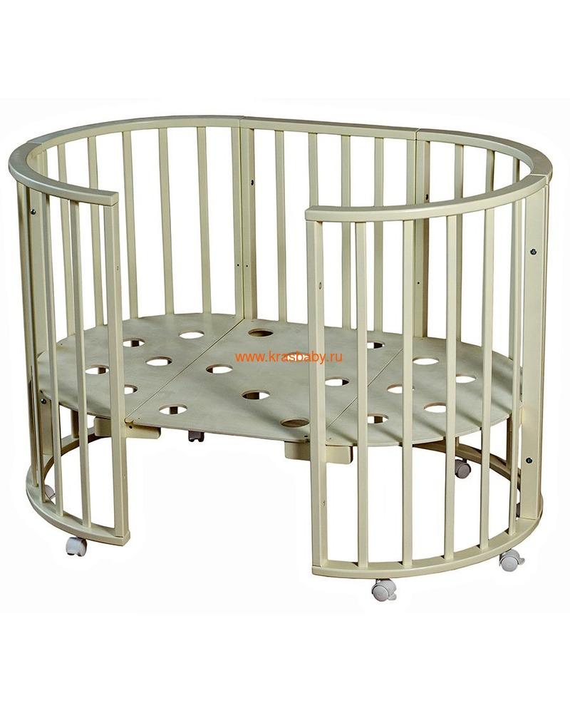 Кроватка МОЙ МАЛЫШ НИКОЛЬ (круглая) (фото, вид 5)