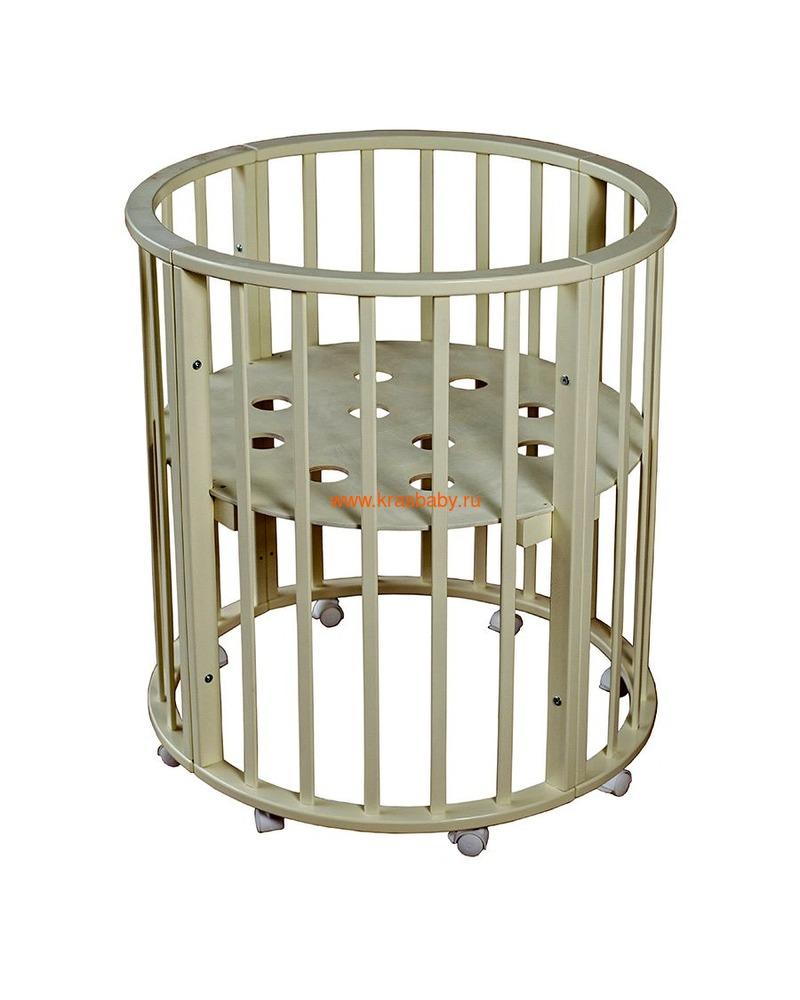 Кроватка МОЙ МАЛЫШ НИКОЛЬ (круглая) (фото, вид 12)
