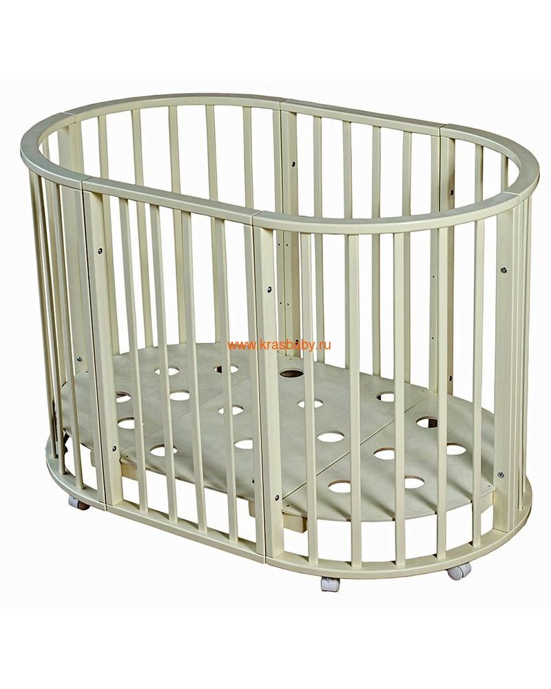 Кроватка МОЙ МАЛЫШ НИКОЛЬ (круглая) (фото, вид 7)