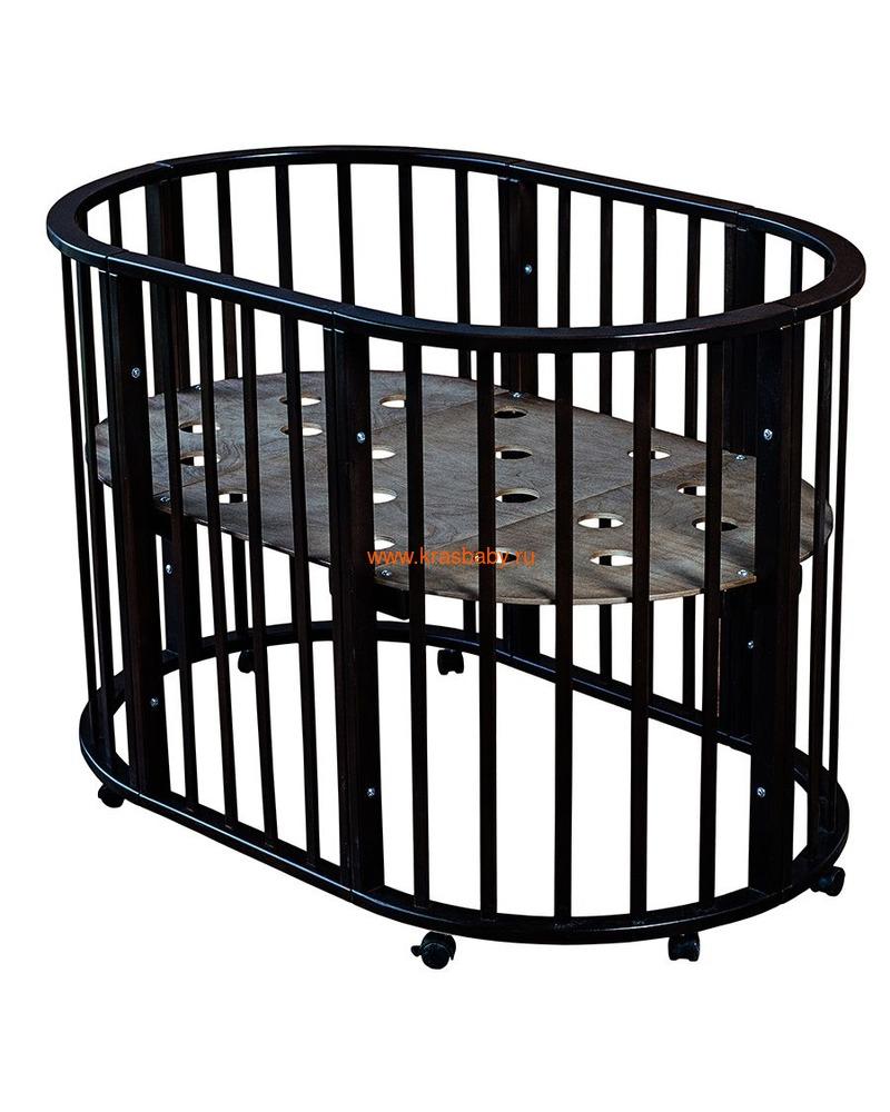 Кроватка МОЙ МАЛЫШ НИКОЛЬ (круглая) (фото, вид 8)