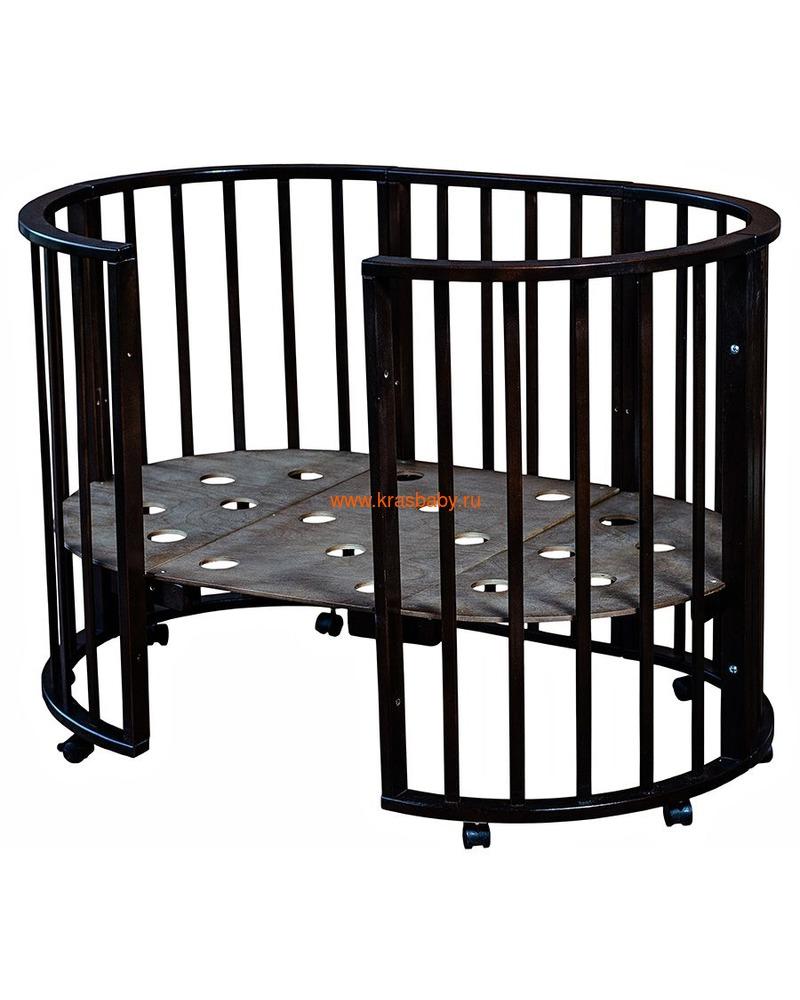 Кроватка МОЙ МАЛЫШ НИКОЛЬ (круглая) (фото, вид 9)