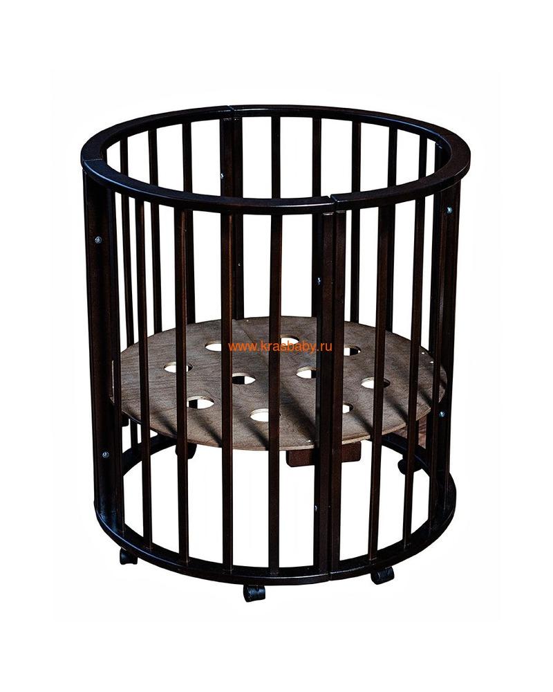 Кроватка МОЙ МАЛЫШ НИКОЛЬ (круглая) (фото, вид 16)