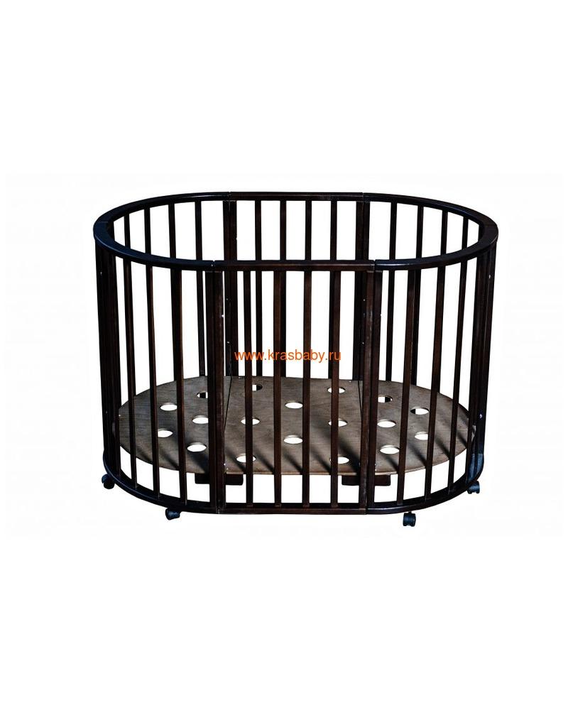 Кроватка МОЙ МАЛЫШ НИКОЛЬ (круглая) (фото, вид 11)
