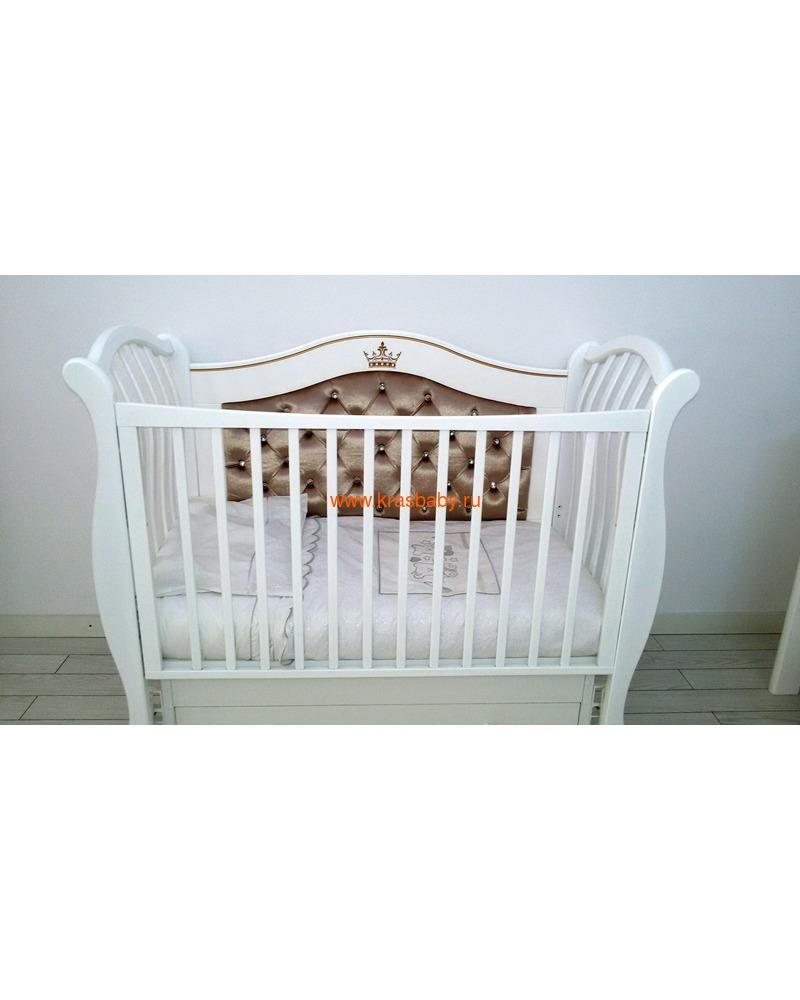 Кроватка GANDYLYAN Габриэлла Люкс Плюс (качалка) (фото, вид 9)