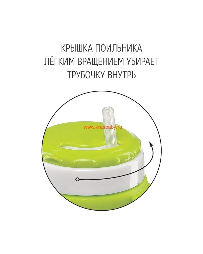 HAPPY BABY Поильник с трубочкой и ручками STRAW FEEDING CUP (фото, вид 2)