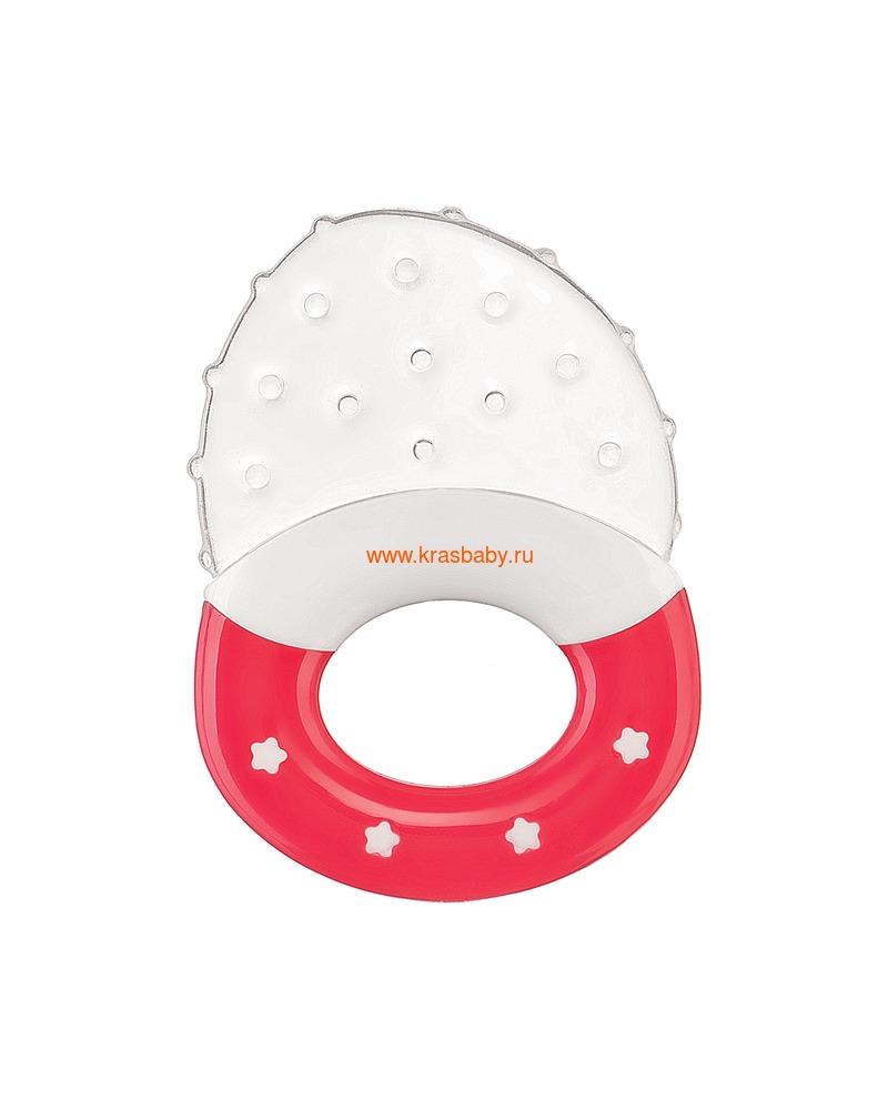 Прорезыватель HAPPY BABY SILICONE TEETHER (силиконовый с ручкой) (фото, вид 1)