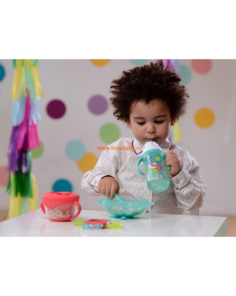 HAPPY BABY Тарелочка на присоске с крышкой FEEDING BOWL (фото, вид 8)