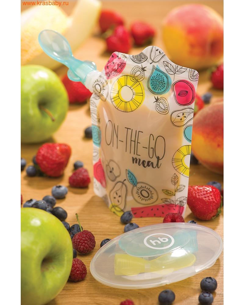 HAPPY BABY Ложки-накрутки в футляре FOOD POUCH SPOON-TIPS (фото, вид 2)