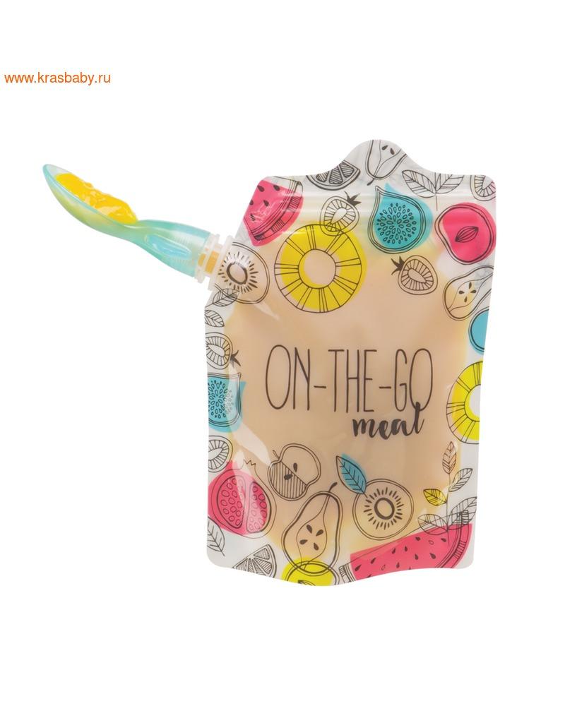 HAPPY BABY Ложки-накрутки в футляре FOOD POUCH SPOON-TIPS (фото, вид 5)