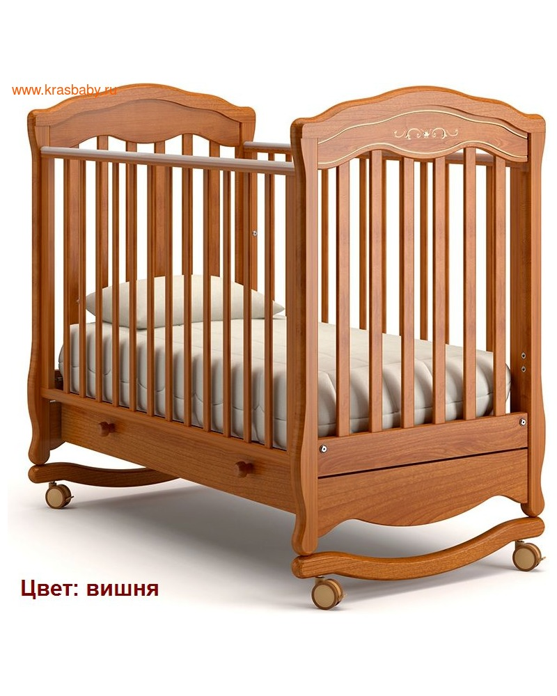 Кроватка GANDYLYAN Шарлотта Люкс (качалка) (фото, вид 10)