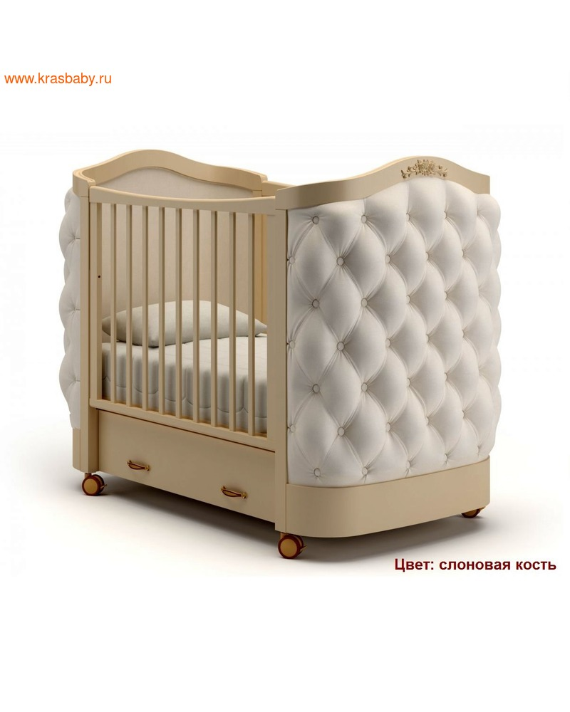 Кроватка GANDYLYAN Тиффани декор пуговицы (фото, вид 5)