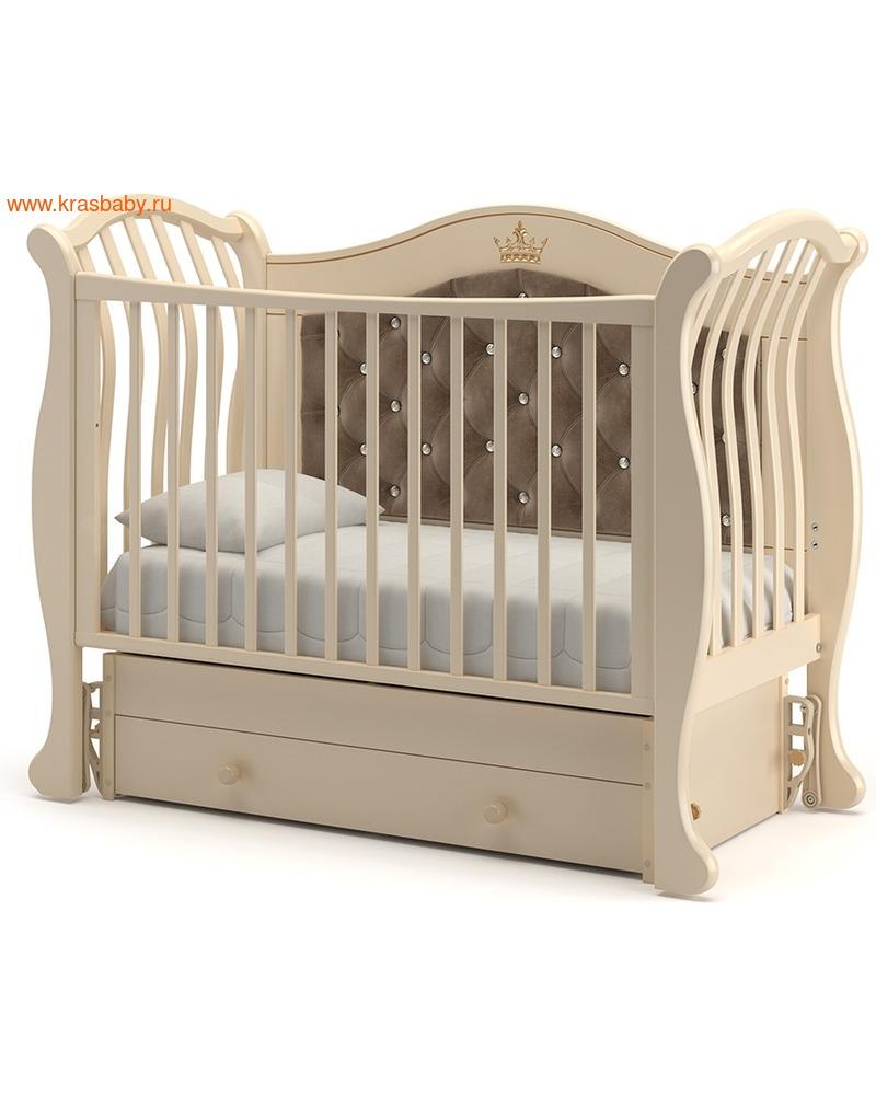 Кроватка GANDYLYAN Габриэлла Люкс Плюс (качалка) (фото, вид 12)