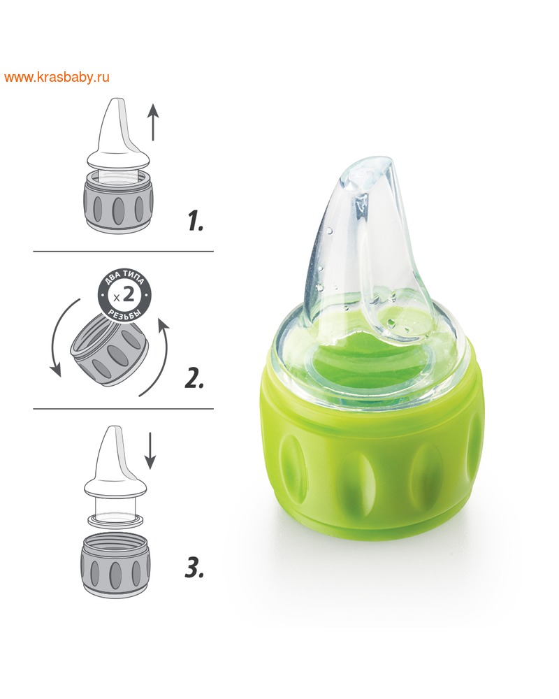 HAPPY BABY Соска-поильник для бутылок SILICONE SPOUT FOR BOTTLES (фото, вид 3)