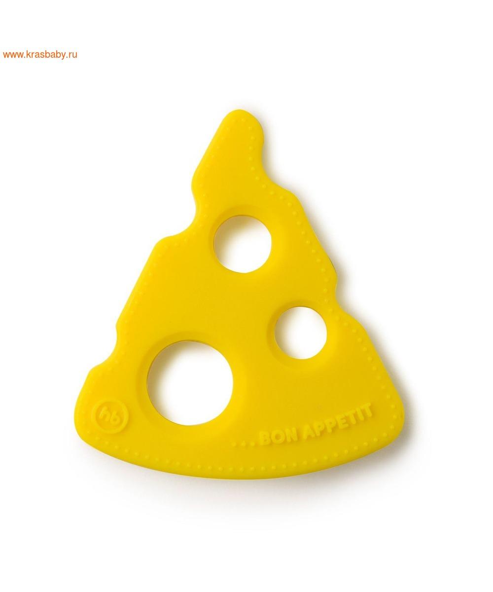 HAPPY BABY Прорезыватель силиконовый СЫР (фото, вид 1)