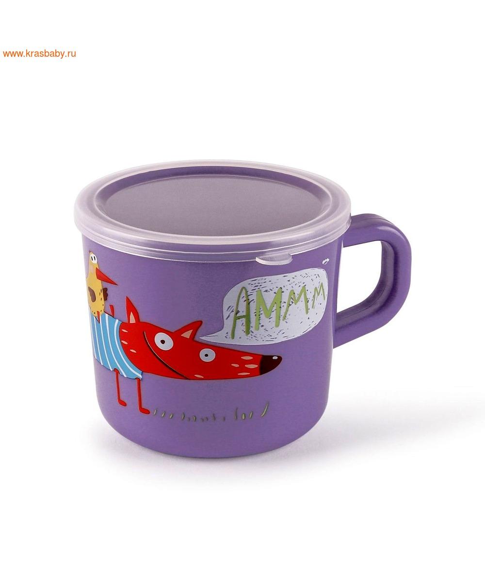 HAPPY BABY Кружка с ручкой и крышкой TRAINING CUP (фото, вид 2)