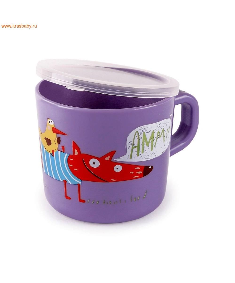 HAPPY BABY Кружка с ручкой и крышкой TRAINING CUP (фото, вид 3)