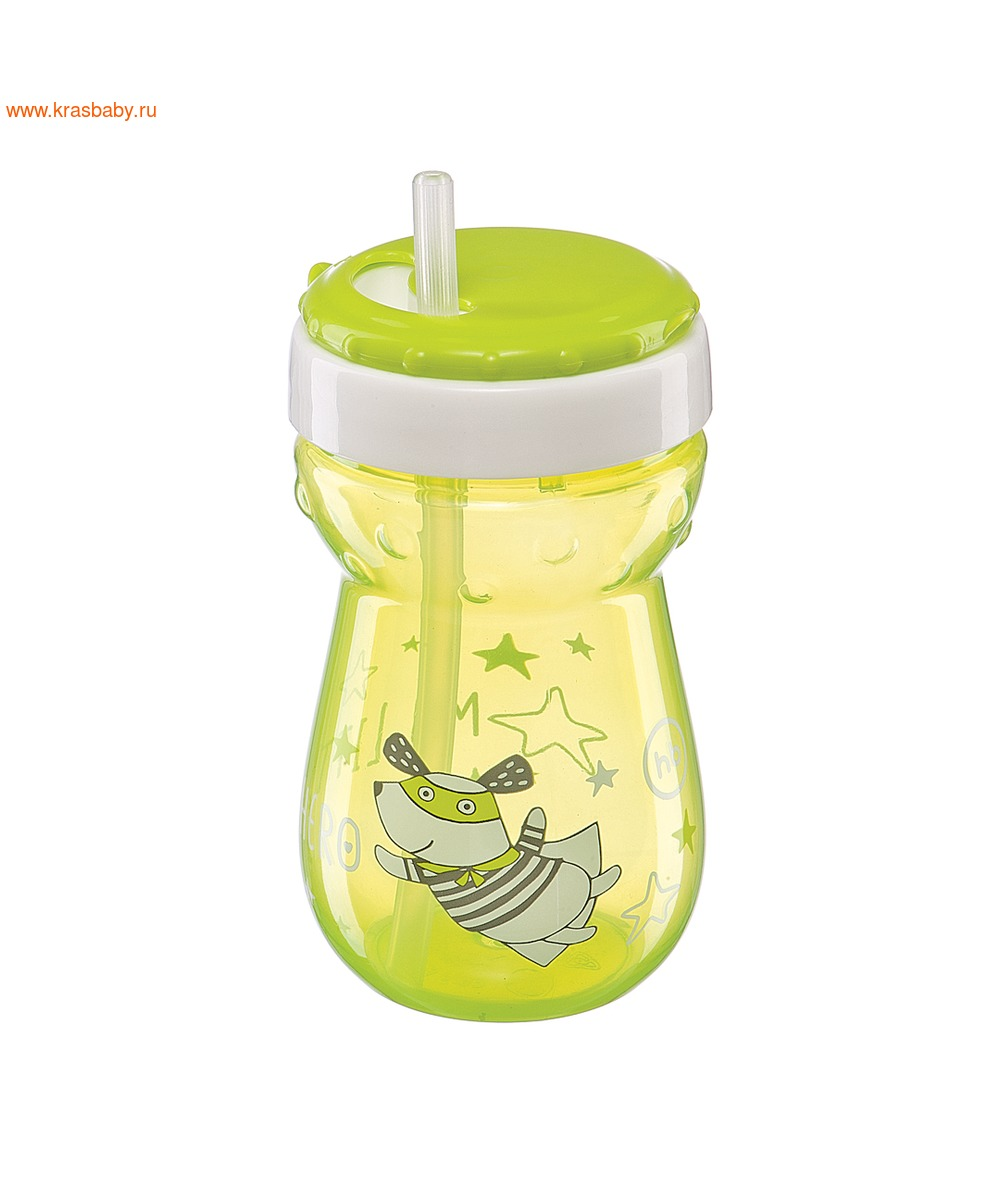 HAPPY BABY Большой поильник с трубочкой STRAW FEEDING CUP (фото, вид 4)