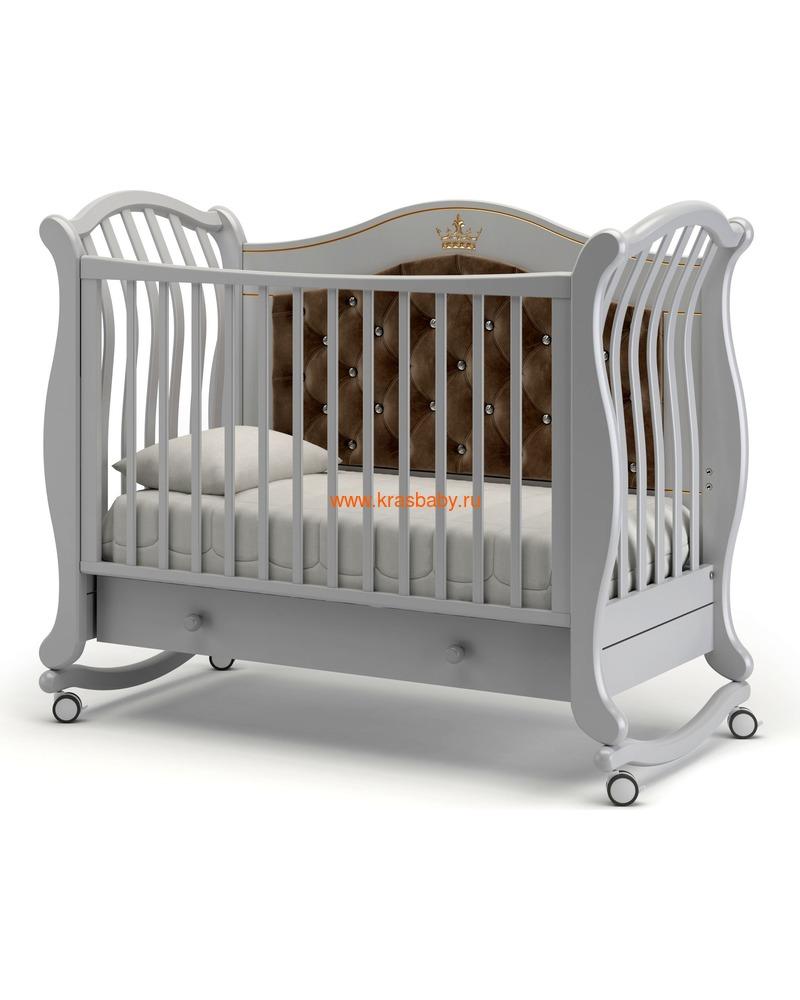 Кроватка GANDYLYAN Габриэлла Люкс Плюс (качалка) (фото, вид 2)