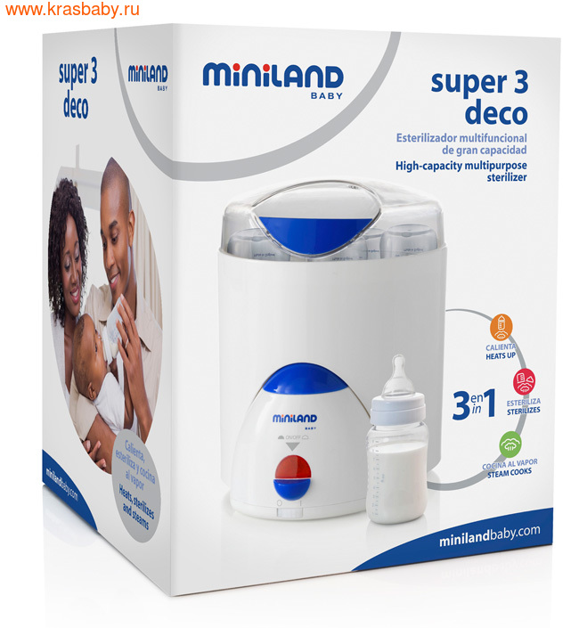 Нагреватель-стерилизатор MINILAND SUPER 3 DECO (фото, вид 2)