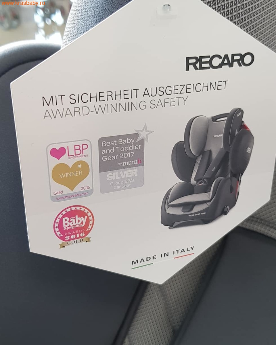 Автокресло RECARO Young Sport Hero (9-36 кг) (фото, вид 9)