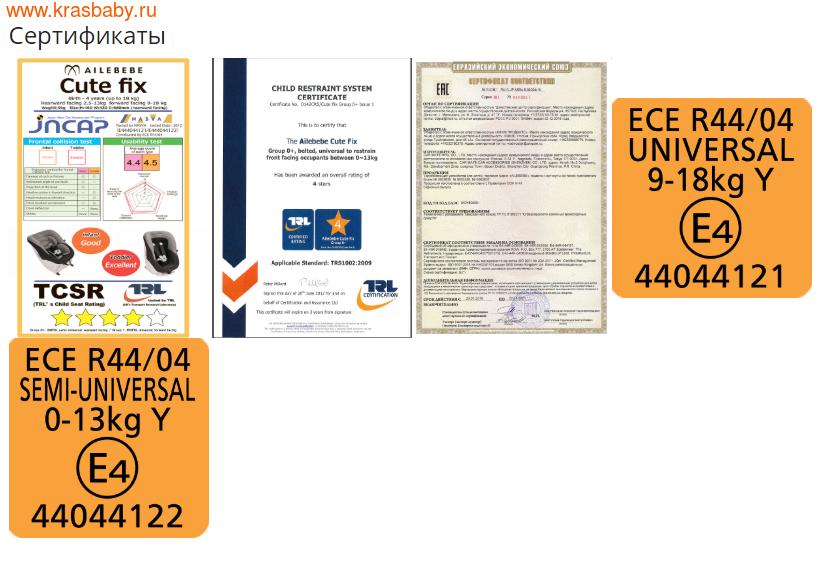 Автокресло CARMATE CUTE-FIX ISOFIX 0-18 (фото, вид 5)