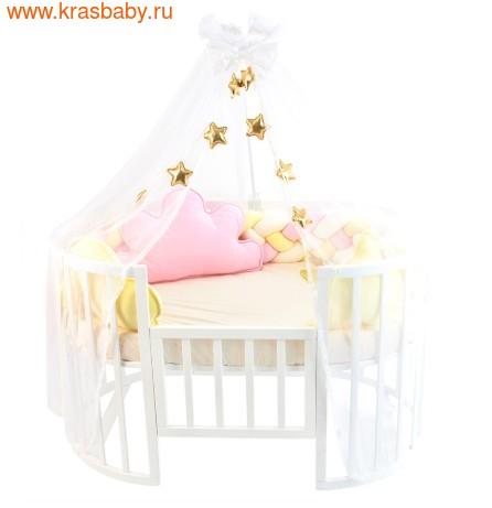 Комплект постельного белья ЗОЛОТОЙ ГУСЬ Сластёна, 6 предметов (фото, Розовый, 8076)