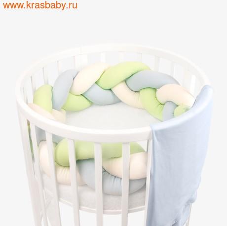 Бортик для кроватки ЗОЛОТОЙ ГУСЬ Косичка (фото, Пшеничка, 8083)