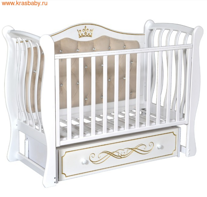 Кроватка Кедр Olivia 2 (фото, Белый)