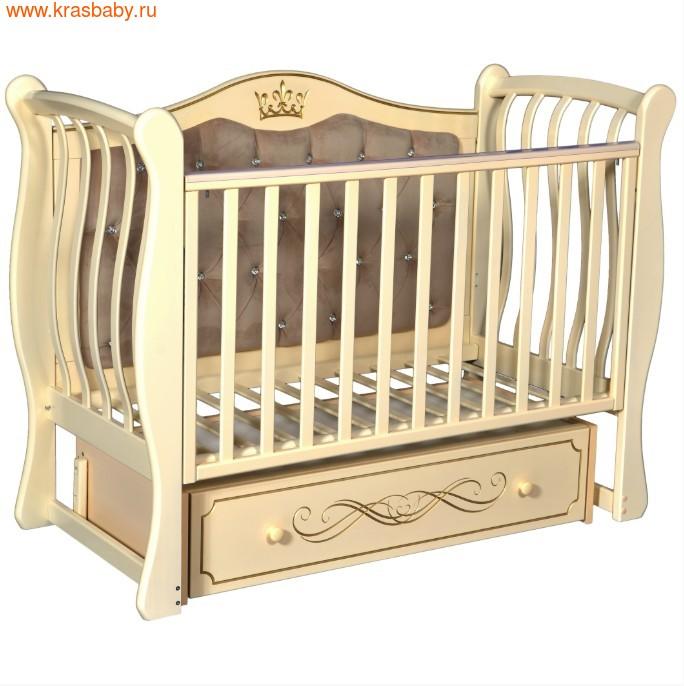 Кроватка Кедр Olivia 2 (фото, Слоновая кость)