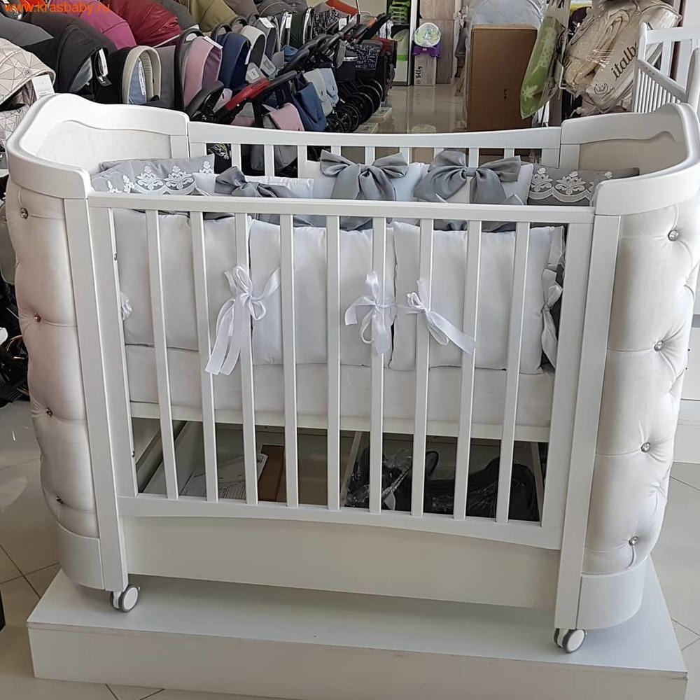 Кроватка GANDYLYAN Тиффани со стразами (фото, вид 5)