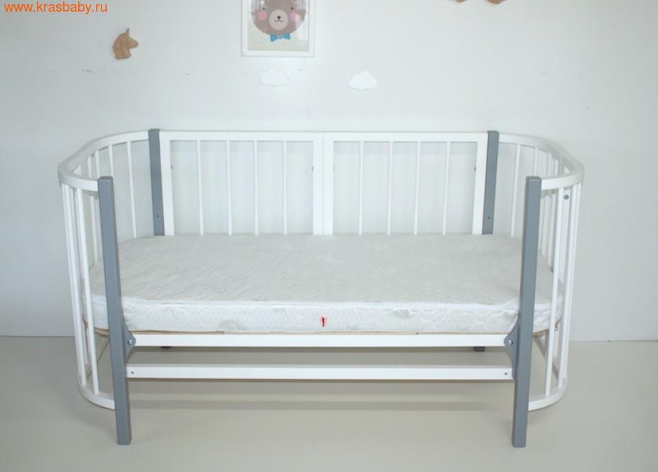 Кровать-трансформер SOOHOOKIDS Комплект удлинения Белый для Прямоугольной кроватки PAPPY (фото, вид 1)