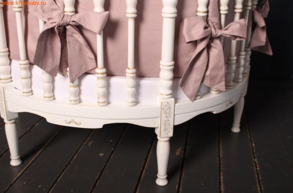 Кроватка SOOHOOKIDS круглая Royal Regis Luxury Белая c Золотом (фото, вид 2)
