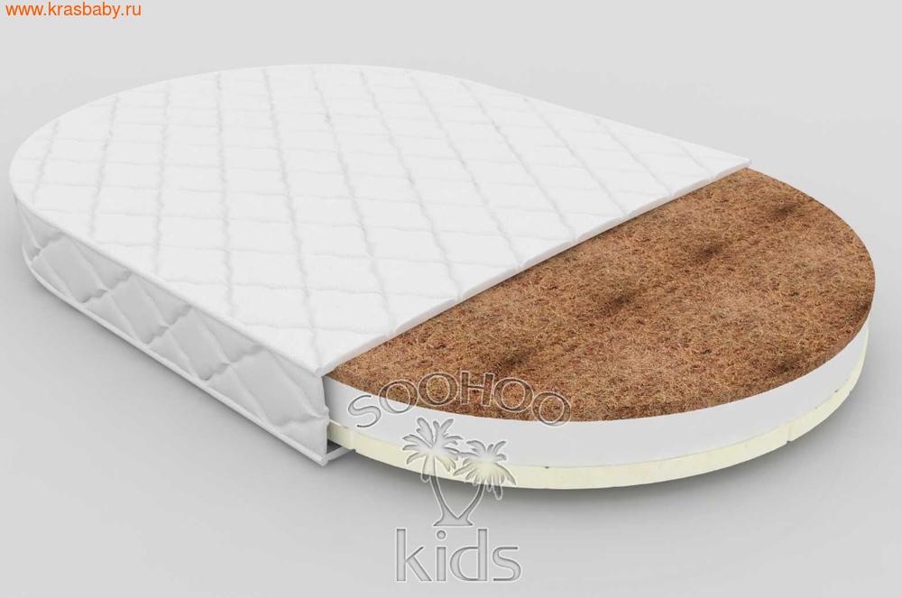 Матрас детский SOOHOOKIDS в колыбель Кокос Холкон Латекс 11см на 8 в 1 (фото, вид 1)
