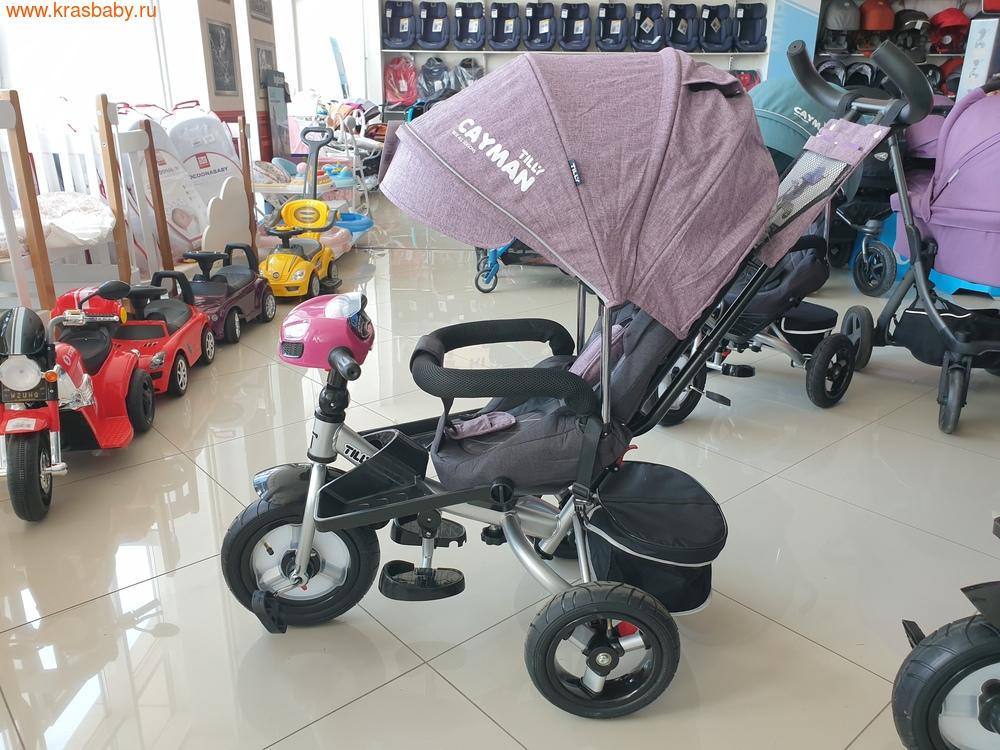 Велосипед Baby Tilly трехколесный CAYMAN T-381 с поворотным сидением и наклоном спинки (фото, вид 19)