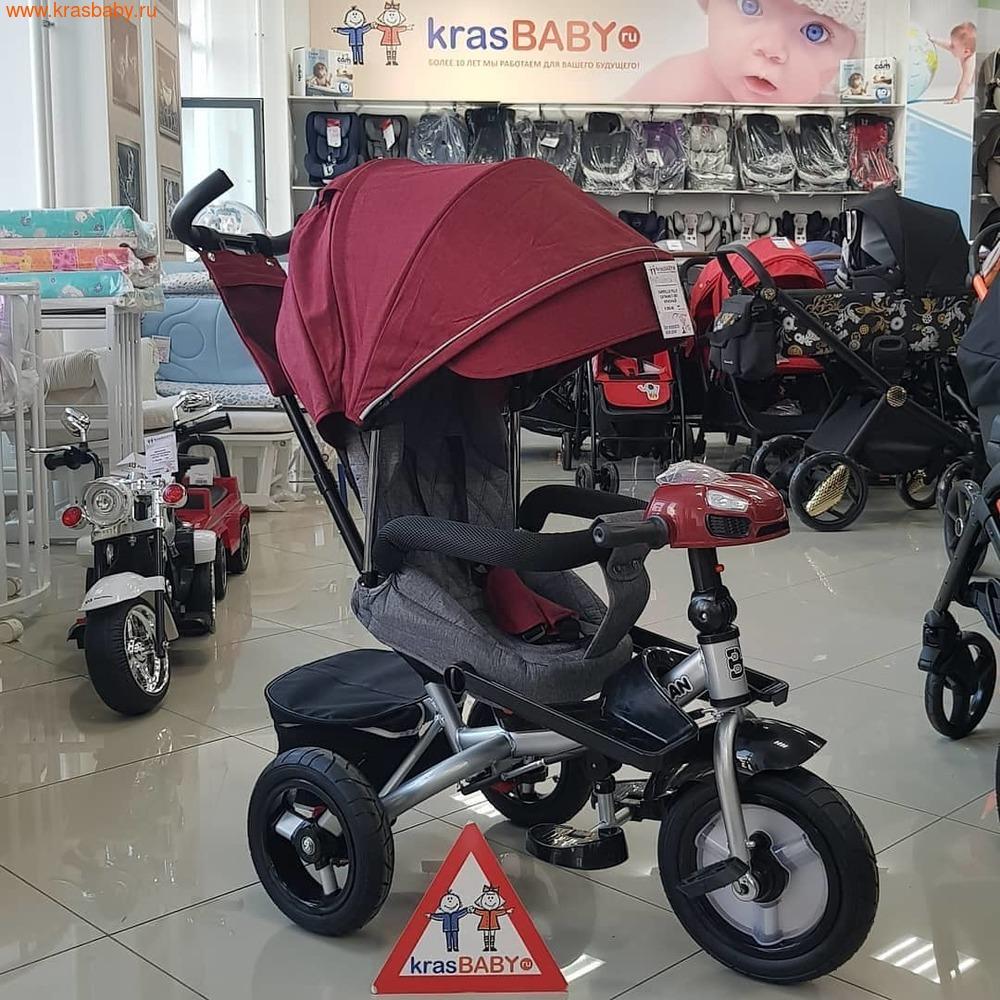 Велосипед Baby Tilly трехколесный CAYMAN T-381 с поворотным сидением и наклоном спинки (фото, вид 23)