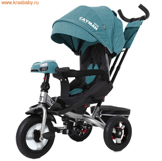 Велосипед Baby Tilly трехколесный CAYMAN T-381 с поворотным сидением и наклоном спинки (фото, вид 28)