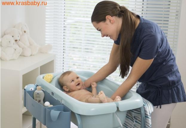 Пеленальный столик CHICCO с ванночкой Cuddle & Bubble Comfort {Ocean} (фото, вид 2)