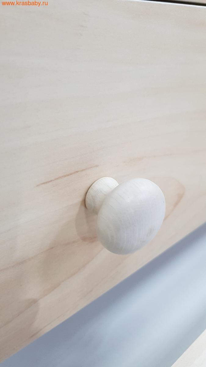 Комод пеленальный MIBB (ванночка+матрас) SUPERPOP SBIANCATO выбеленный бук (фото, вид 3)