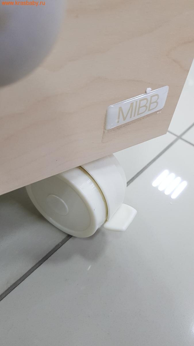 Комод пеленальный MIBB (ванночка+матрас) SUPERPOP SBIANCATO выбеленный бук (фото, вид 4)