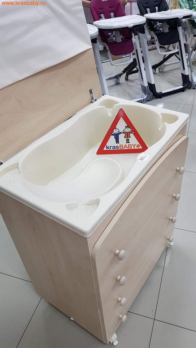 Комод пеленальный MIBB (ванночка+матрас) SUPERPOP SBIANCATO выбеленный бук (фото, вид 6)