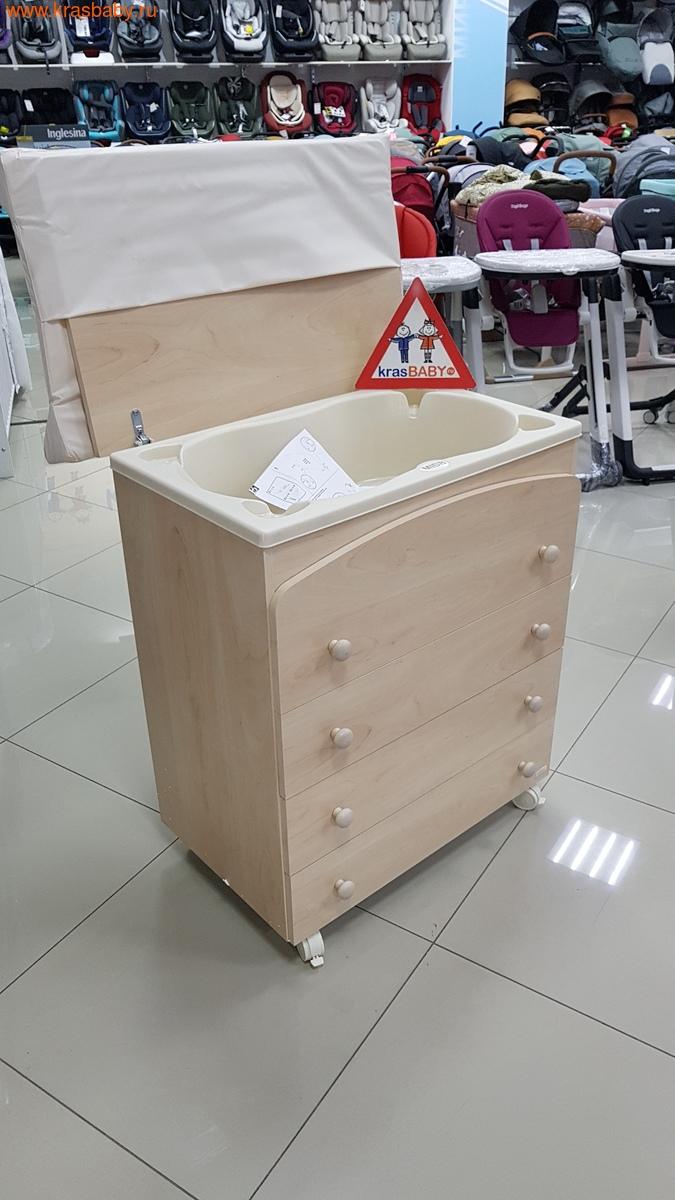 Комод пеленальный MIBB (ванночка+матрас) SUPERPOP SBIANCATO выбеленный бук (фото, вид 8)