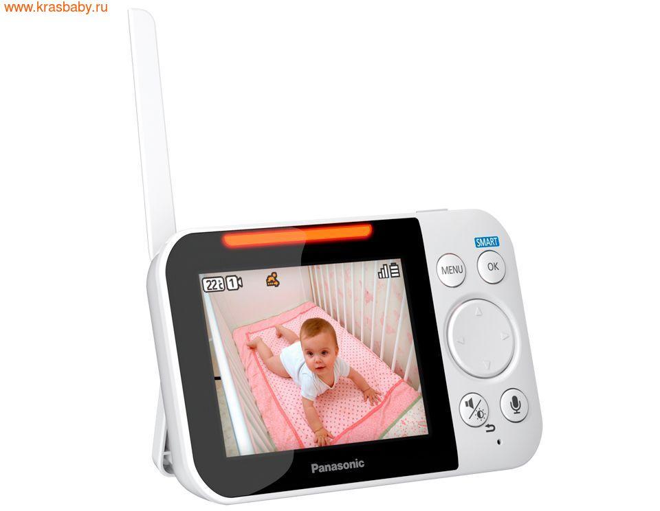 Видеоняня PANASONIC Цифровая видеоняня KX-HN3001RUW (фото, вид 3)