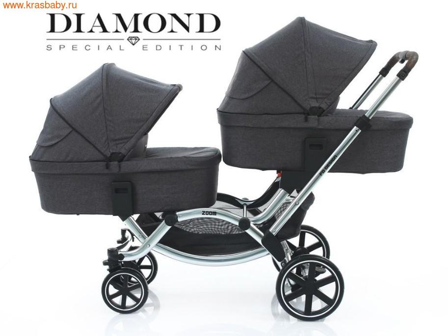 Коляска для двойни FD DESIGN ZOOM Diamond Special Edition ( 2 в 1) (фото, вид 24)