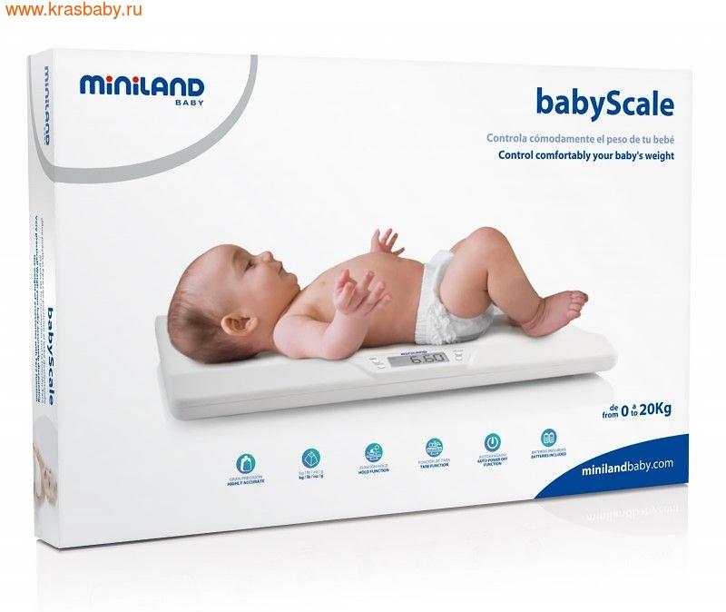 Весы электронные MINILAND электронные детские весы BabyScale (фото, вид 1)