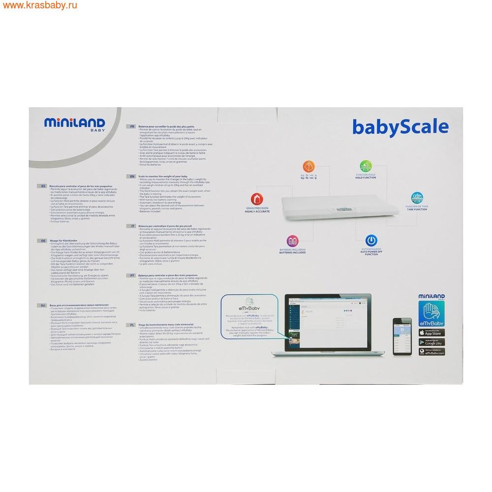 Весы электронные MINILAND электронные детские весы BabyScale (фото, вид 3)