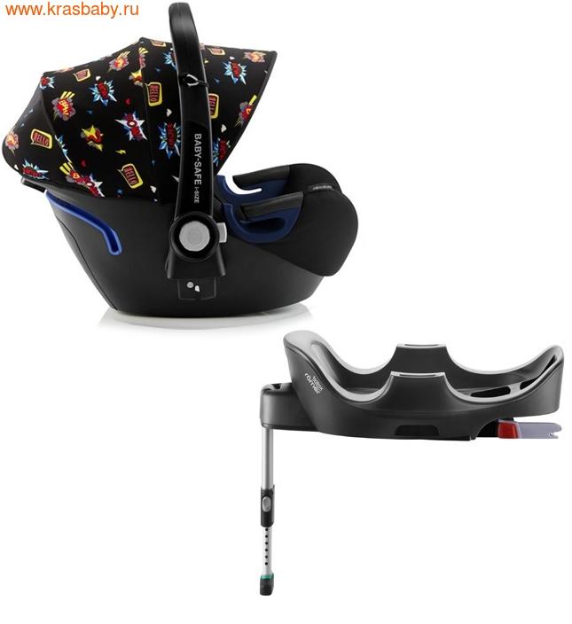 Автокресло BRITAX ROEMER Baby-Safe 2 i-Size + база FLEX Comic Fun (фото, вид 10)
