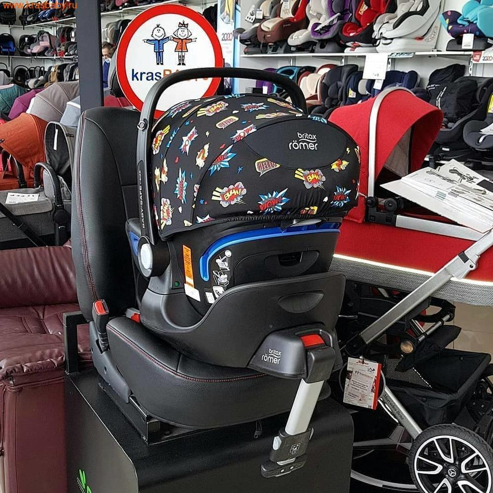 Автокресло BRITAX ROEMER Baby-Safe 2 i-Size + база FLEX Comic Fun (фото, вид 11)