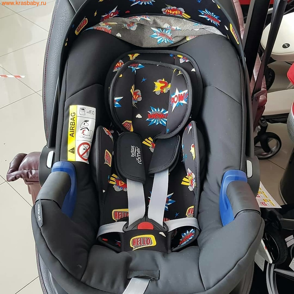 Автокресло BRITAX ROEMER Baby-Safe 2 i-Size + база FLEX Comic Fun (фото, вид 12)
