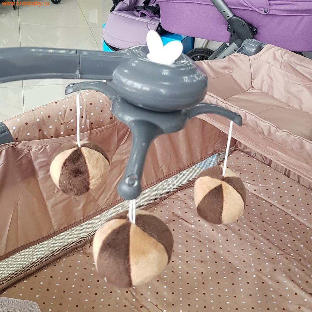 Манеж-кровать Selby 216, бежевый (фото, вид 7)
